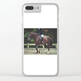 """""""All Riders Trot Please, All Riders Trot"""" Clear iPhone Case"""