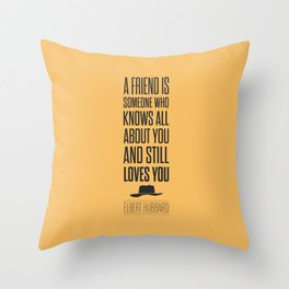 Lab No. 4 - Elbert Hubbard American Writer Motivational Typography Quotes Poster Throw Pillow