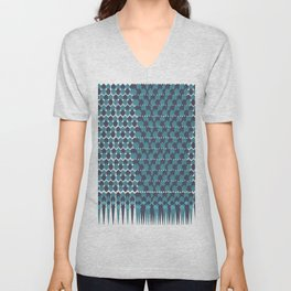 Cubist Ornament Pattern Unisex V-Neck