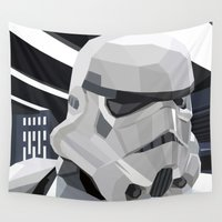 storm Wall Tapestries featuring Stormtrooper by Liam Brazier