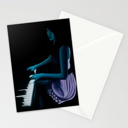 "‎""Silhouette cast from the depths""  Stationery Cards"