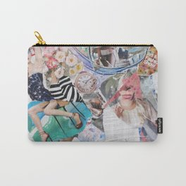 Lady's day Abstract Art Collage Contemporary Carry-All Pouch