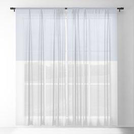 Bearded Iris Lady of Leoness ~ Blue Smoke Sheer Curtain