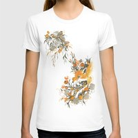 channel T-shirts featuring fox in foliage by Teagan White