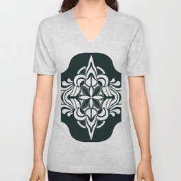 Tile art Unisex V-Neck