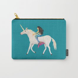 To the Land of Mermaids and Unicorns Carry-All Pouch