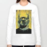 frankenstein Long Sleeve T-shirts featuring Frankenstein by nicebleed
