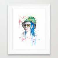 fear and loathing Framed Art Prints featuring Fear and Loathing by Becca Douglas