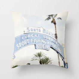 Santa Monica Sign Throw Pillow