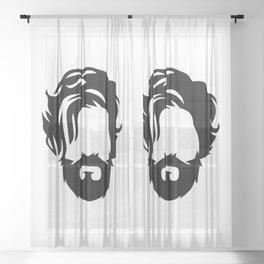 Barber Silhouette 1 Sheer Curtain