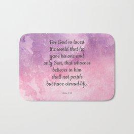 John 3:16, For God So Loved the World Scripture Bath Mat