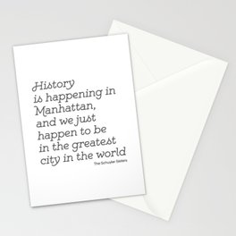 History is Happening in Manhattan Stationery Cards