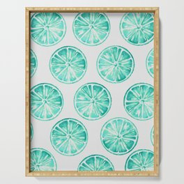Turquoise Citrus Serving Tray