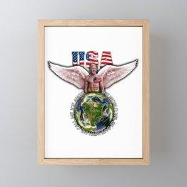 Joe Biden (Joe Angel) Guardian angel Framed Mini Art Print