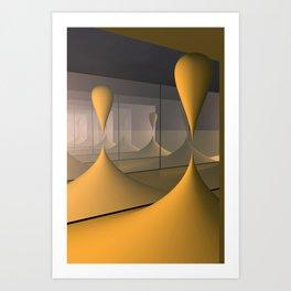 mirrors and globs -4- Art Print