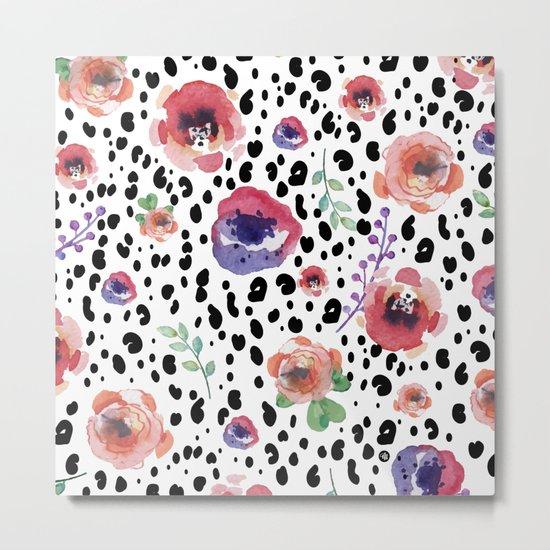 Abstract animal flowers Metal Print