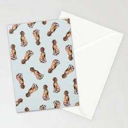 Dog Pattern 1 on Baby Blue Stationery Cards