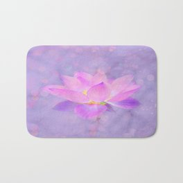 Lotus Emerging from the Water Bath Mat
