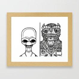 B&W Weirdos 26 Framed Art Print