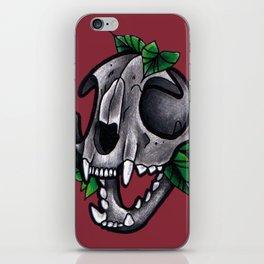 Cat Skull (red) iPhone Skin