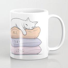 My Kitty Sleeps All Day Long Coffee Mug