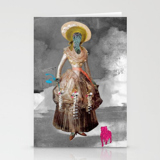 Goya -  Marquesa de Pontejos - Collage Stationery Cards