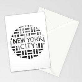 new york city typography illustration Stationery Cards