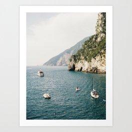 Italy coast in Portovenere | La Spezia, Cinque Terre | Fine Art Travel Photography Print  Art Print