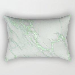 Marble Love Green Metallic Rectangular Pillow