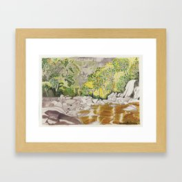 Casca d´Anta cascade Framed Art Print