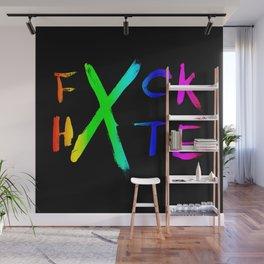 FXCK HXTE - Rainbow Paint 1 Wall Mural