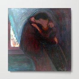Edvard Munch The Kiss Metal Print