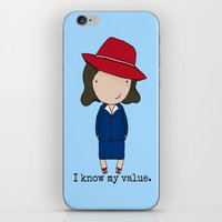 agent carter iPhone & iPod Skins featuring Agent Carter by Jen Talley