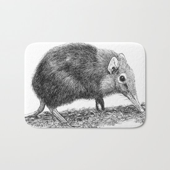 Black Shrew Bath Mat