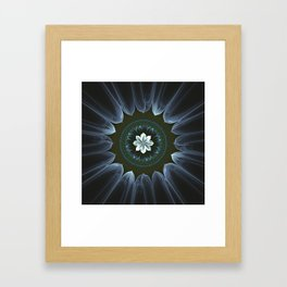 Blossom Within in White Framed Art Print