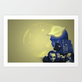Nolan Warped Art Print