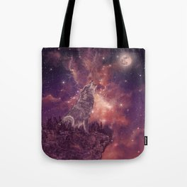 wolf and sky Tote Bag