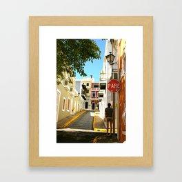 Stop Sign - Pare Framed Art Print