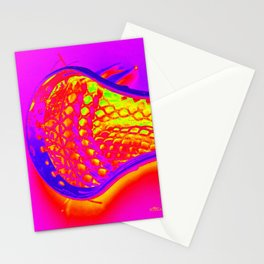 PINK LACROSSE HEAD Stationery Cards
