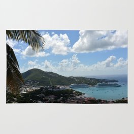 Overlooking the Port at Charlotte Amalie Rug