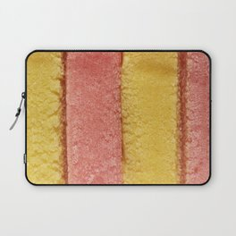 Yellow Peach Colored Bubble Gum Laptop Sleeve