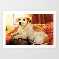 jack russell Art Prints featuring Jack Russell by Good Artitude