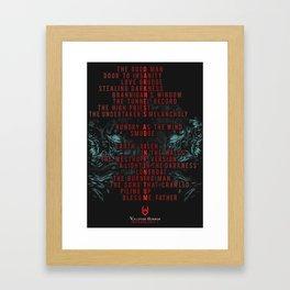DARKNESS AD INFINITUM - 19 Letters Framed Art Print