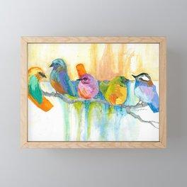 Quirky Birds Framed Mini Art Print