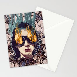 The Girl on Fire Stationery Cards