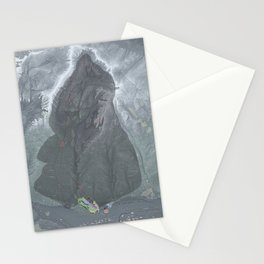 Kendall Mountain Resort Trail Map Stationery Cards