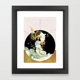 in other words, hold my hand Framed Art Print