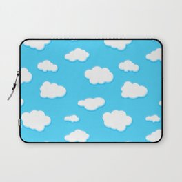 sky of blue and fluffly white clouds Laptop Sleeve