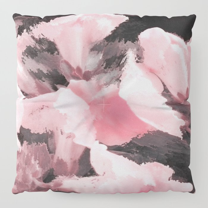 Light Pink Snapdragons Abstract Flowers Floor Pillow