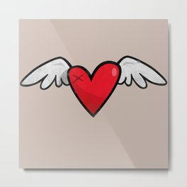 Winged heart Metal Print